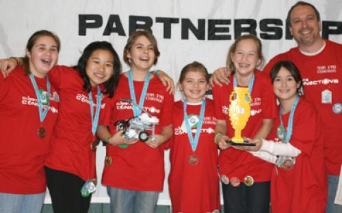 Pictured is Team 3790 - The Icebreakers of Merrick, NY. They stand victorious as the champions of the 2009 SBPLI-LI FIRST LEGO League Tournament.